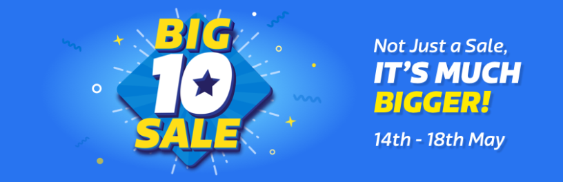 Flipkart Big10 Sale 14th to 18th May
